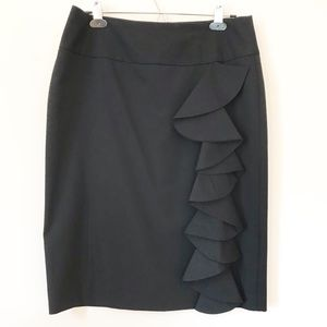 Bisou Bisou Backstage Pass Black Ruffle Skirt